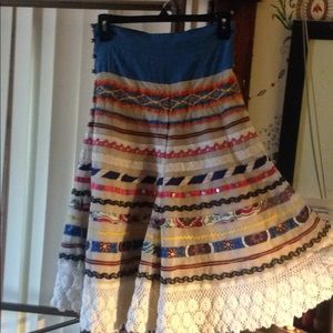 Tracy Reese boho layered skirt size 2 nice
